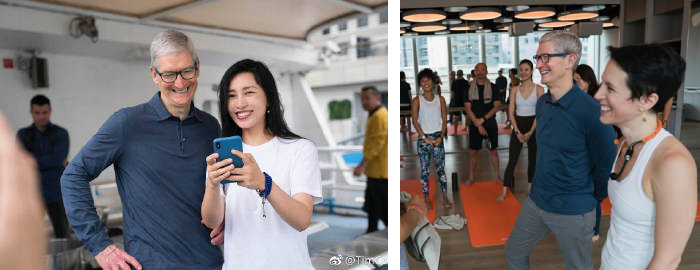Tim Cook Weibo Bilder