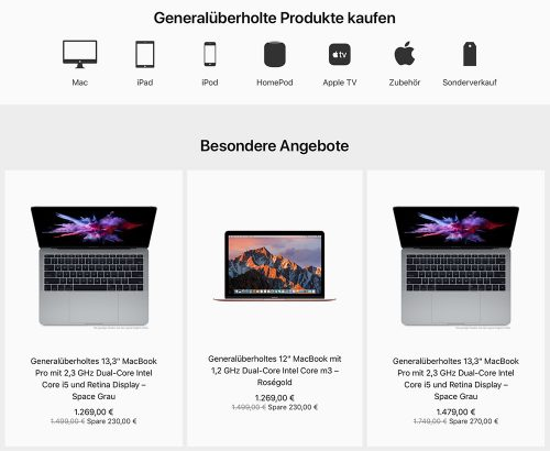 Apple Refurb Store Mit Homepod