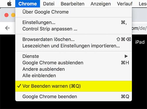 Chrome Vor Beenden Warnen