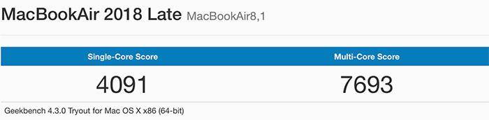 Macbook Air 2018 Benchmark