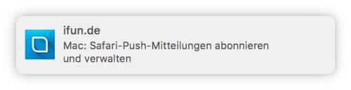 Safari Push Auf Dem Mac