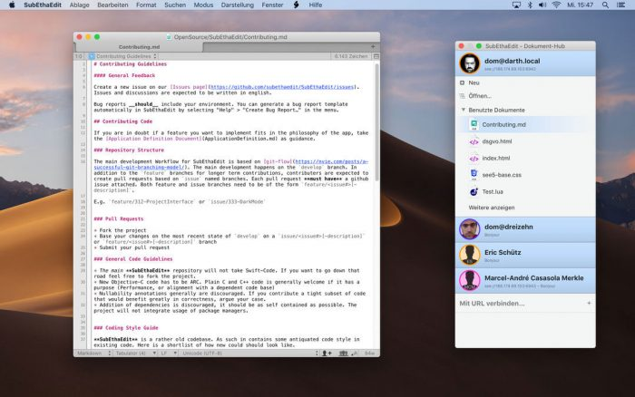 Mac-Editor SubEthaEdit in Version 5.1 verfügbar