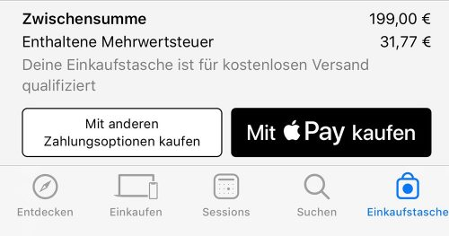 Apple Pay In Der Apple Store App