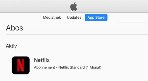 Netflix Abo Itunes Store