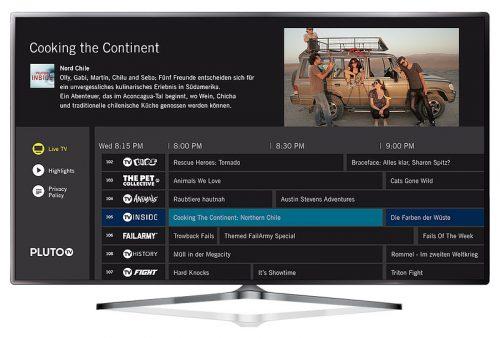 Pluto Tv Bildschirm