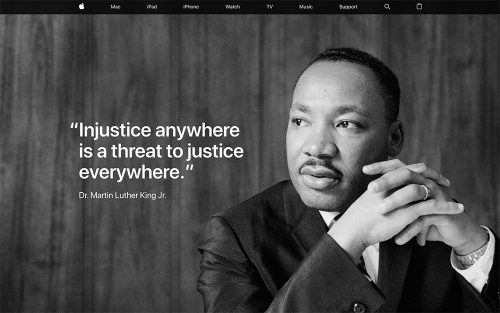 Apple Webseite Martin Luther King