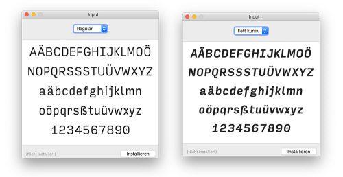 Input Install Font