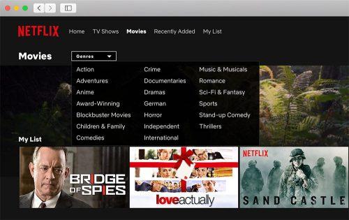 Kategorien Netflix