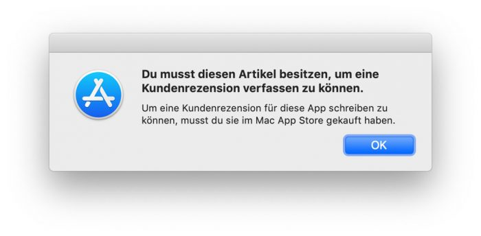 Mac App Store Bewertung 2