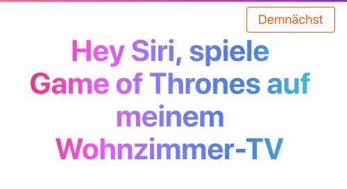 Siri Airplay Tv