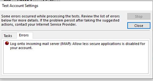 Gmail Fehler