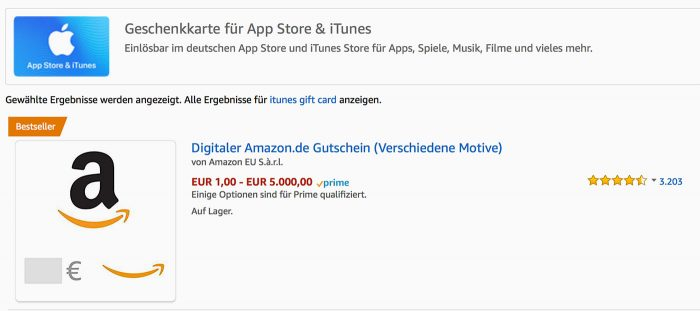 Itunes Karten Bei Amazon
