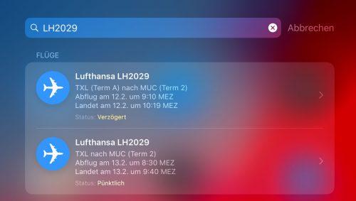 Lufthansa Ios Suche