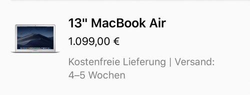 Macbook Air Versand 8 Maerz