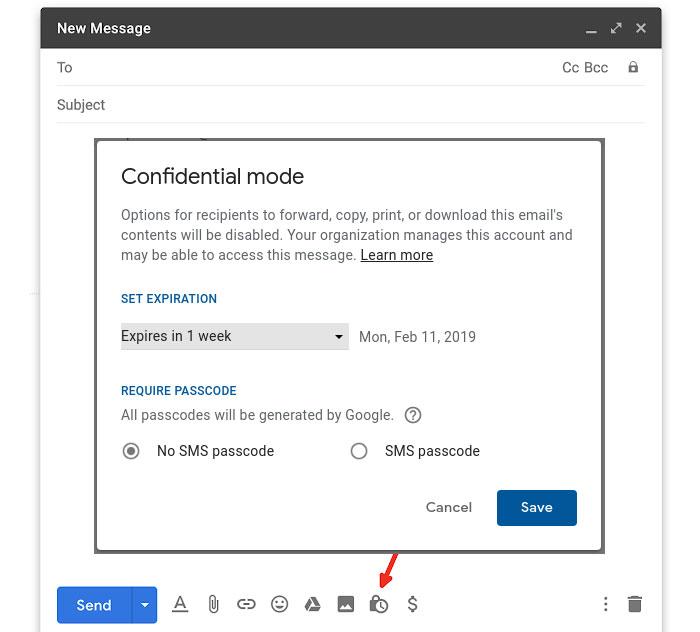 Google Gmail Confidential Mode