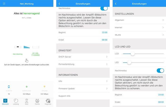 Amplifi Instant App Grundeinstellungen