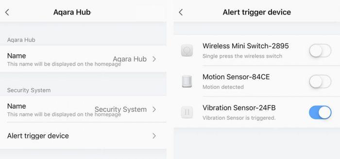 Aqara Hub Alarm Trigger