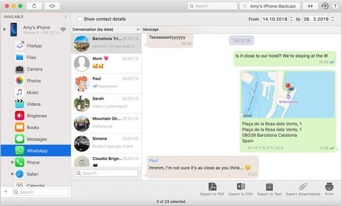 Imazing Whatsapp Zugriff