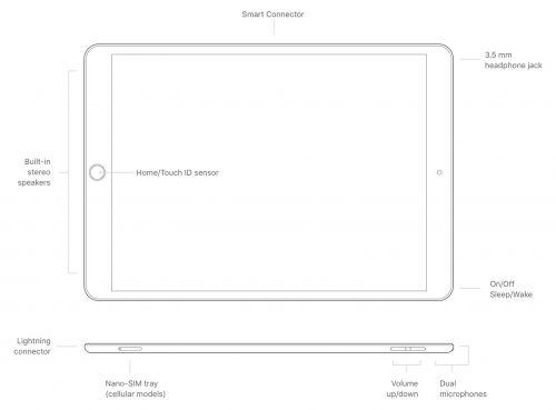 Ipad Air Generation 3 Technische Zeichnung