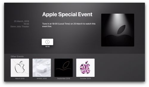 Special Event Apple Tv