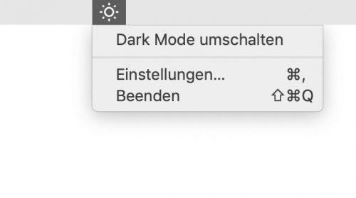 Dark Mode Umschalten