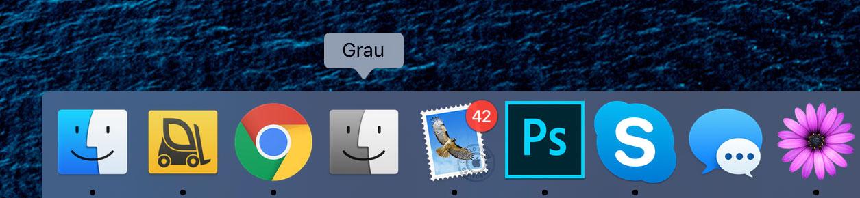 Grau App Dock