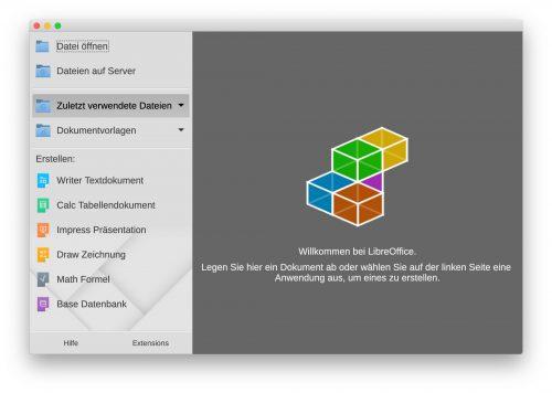 Libreoffice Start Fenster