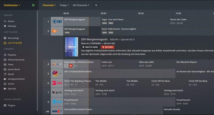 Fernsehsender Plex Fritzbox