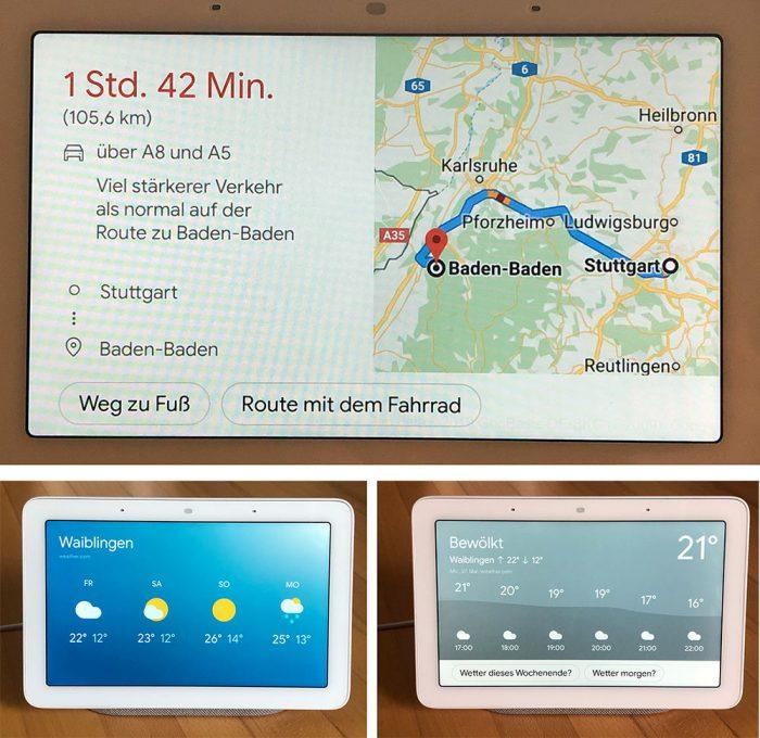 Google Nest Hub Wetter Und Karten