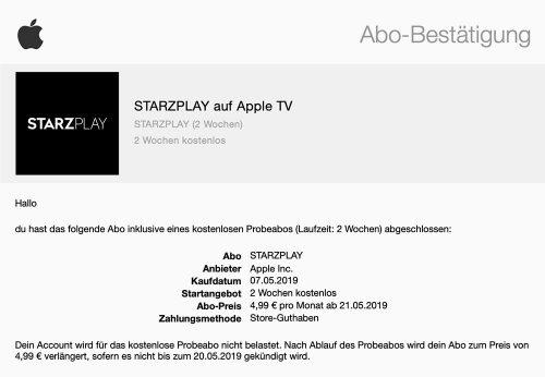 Starzplay Abo Apple Tv
