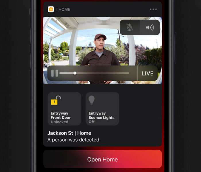 Apple Homekit Secure Video Screenshot