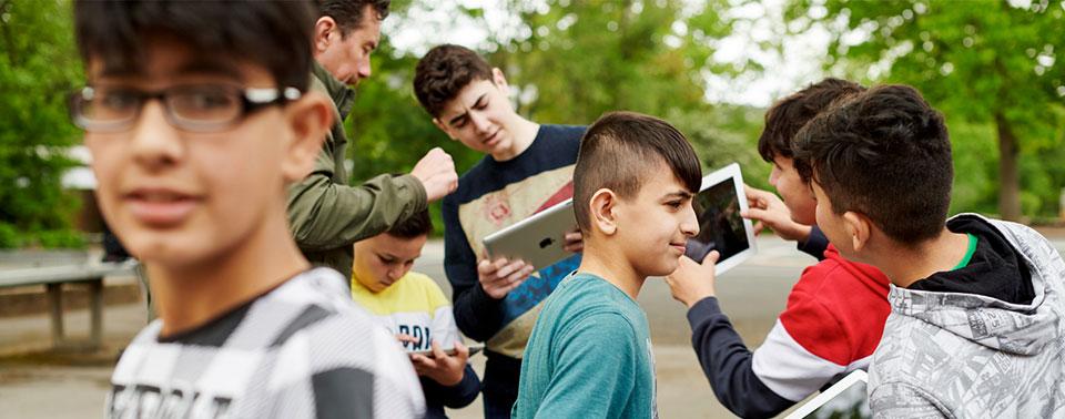 Apples iPad-Vorzeigeschule steht in Düsseldorf