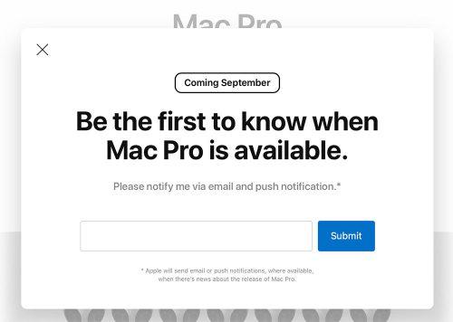 Mac Pro 2019 Verkaufsstart September