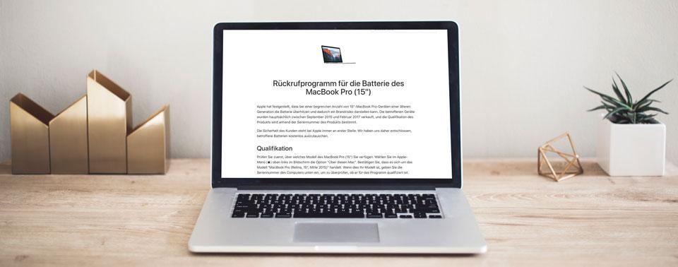 Fluggesellschaften verbieten zurückgerufene Apple-Notebooks an Bord