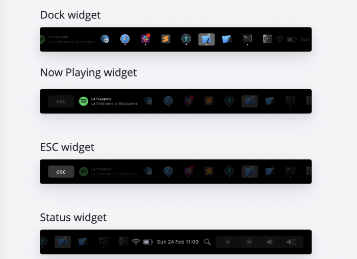 Pock Dock Widgets
