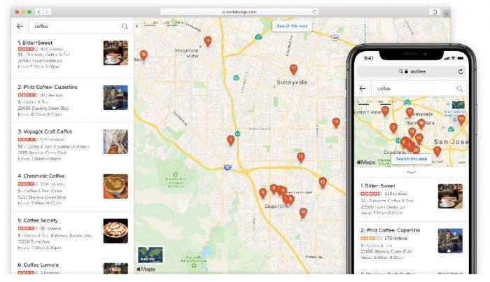 Duckduckgo Apple Karten Screenshots