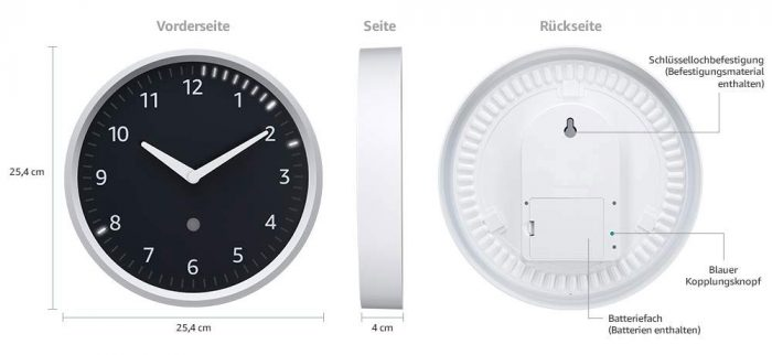 Echo Wall Clock Abmessungen