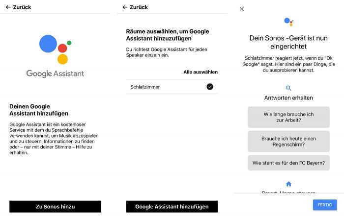 Google Assistant Auf Sonos Einrichten