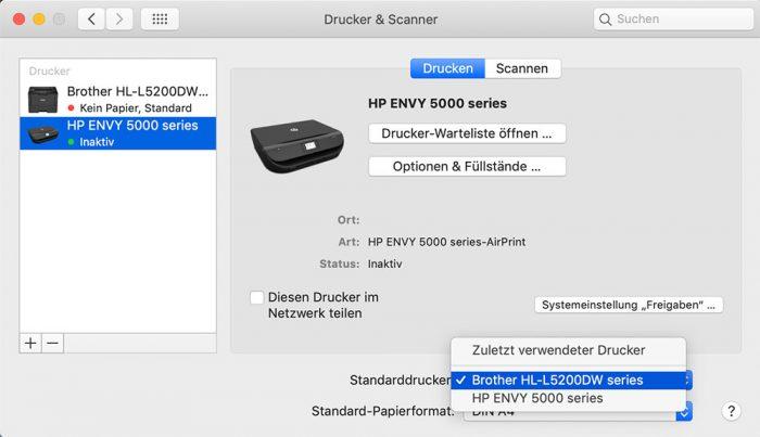 Macos Drucker Systemeinstellungen