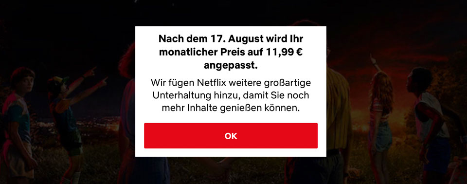 Preiserhöhung Netflix