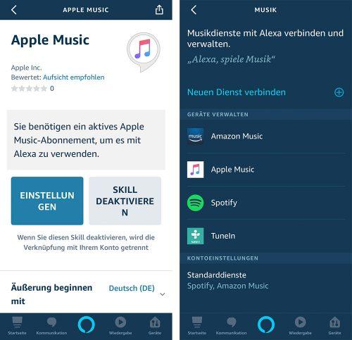 Apple Music Alexa Echo Lautsprecher