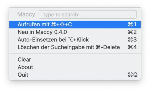 Maccy 0 4 0
