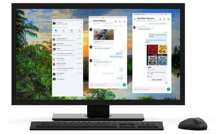 Skype Getrennte Fenster
