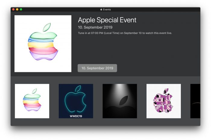 Apple Event Fall 2019 Large