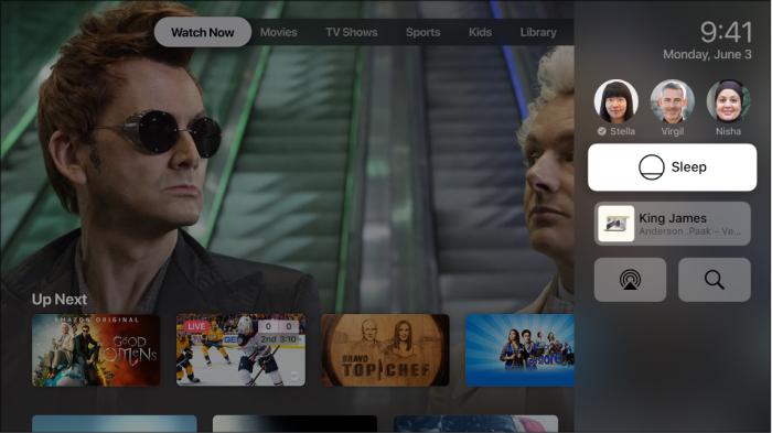 Kontrollzentrum Apple Tv