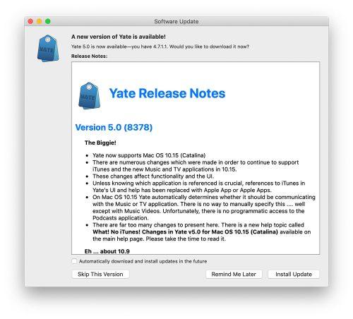 Yate 5 Release