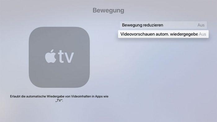 Apple Tv Videovorschauen Deaktivieren