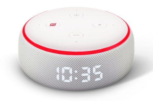Echo Dot Mit Uhr Mikrofon Ausgeschaltet