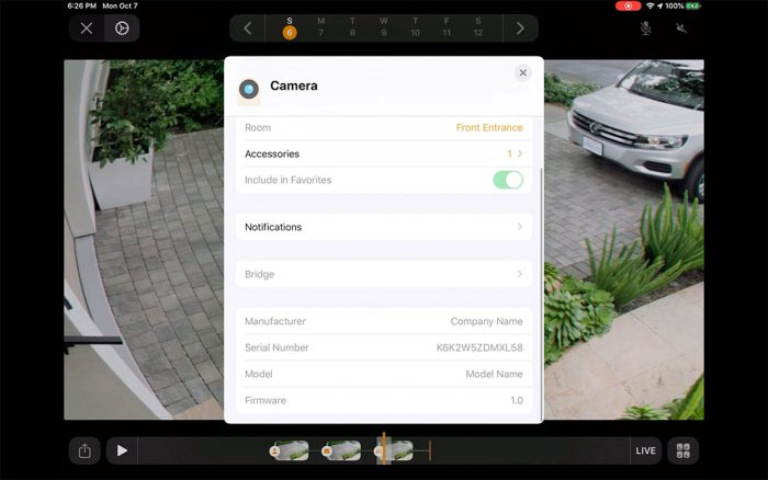 Homekit Secure Video Kamera Fenster