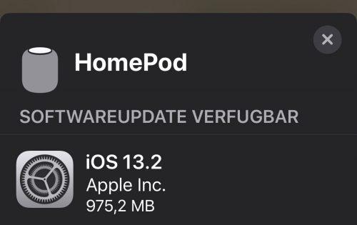 Homepod Update